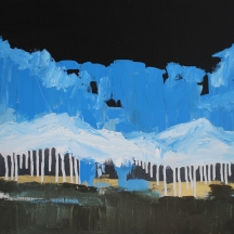 """""""Great Planes Rain"""" acrylic and spray paint on canvas [SOLD]"""
