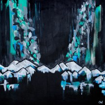 """""""Ranges 03"""" acrylic on canvas [SOLD]"""