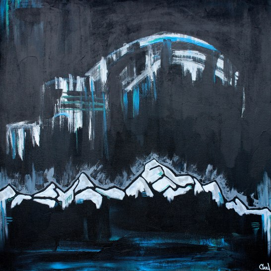 """""""Ranges 02"""" acrylic on canvas [SOLD]"""